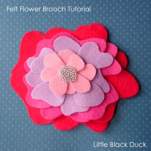 Felt Flower Brooch Tutorial