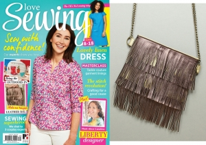 Fringed Shoulder Bag for Love Sewing issue 39