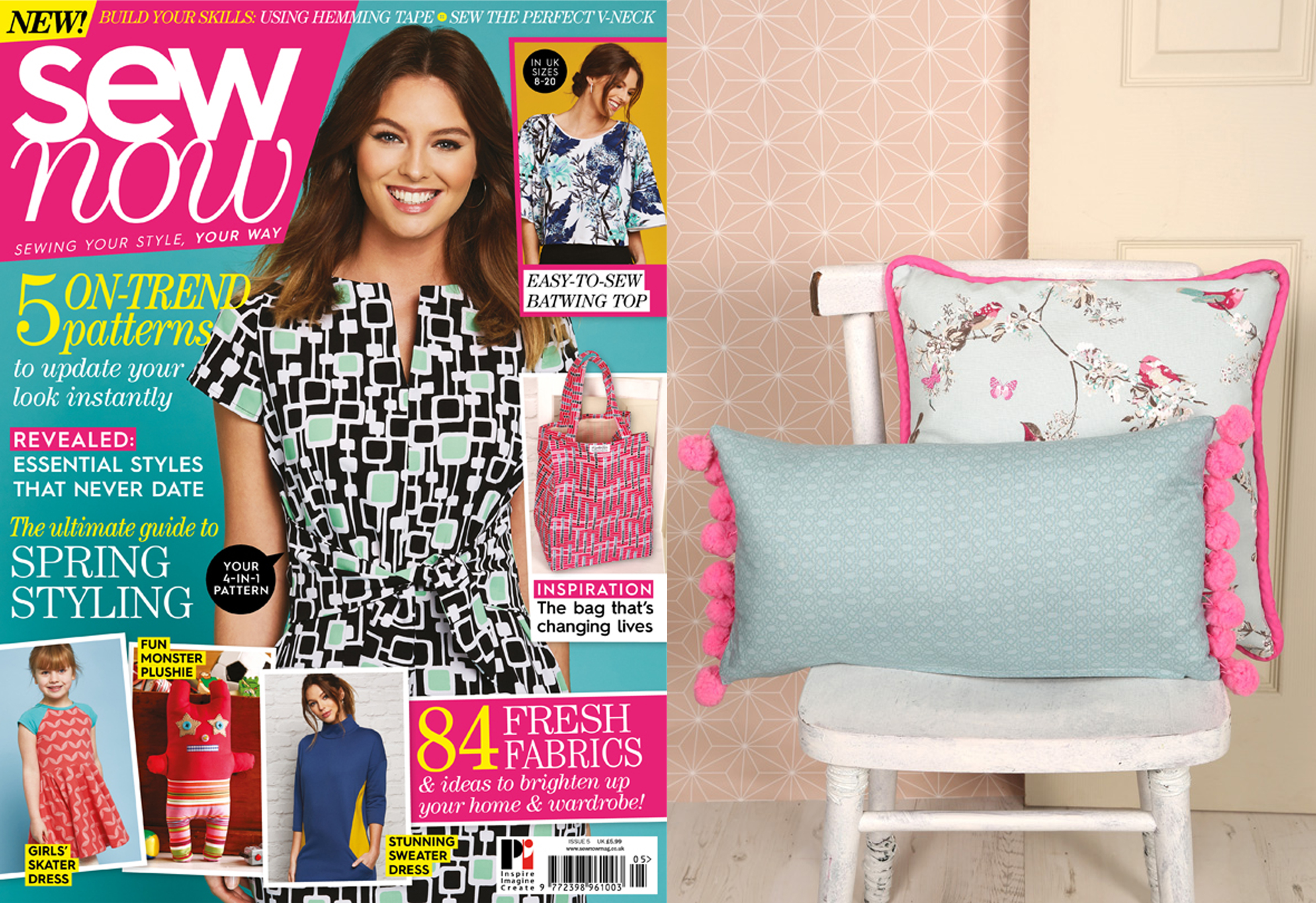 Giant PomPom Cushion Featured in Sew Now