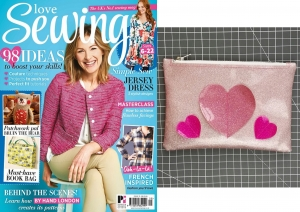 Glitter Heart Clutch for Love Sewing issue 35