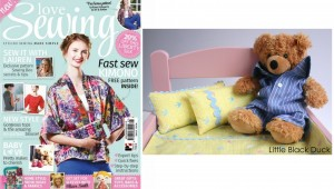 Teddy Bedding featured in Love Sewing Issue 5