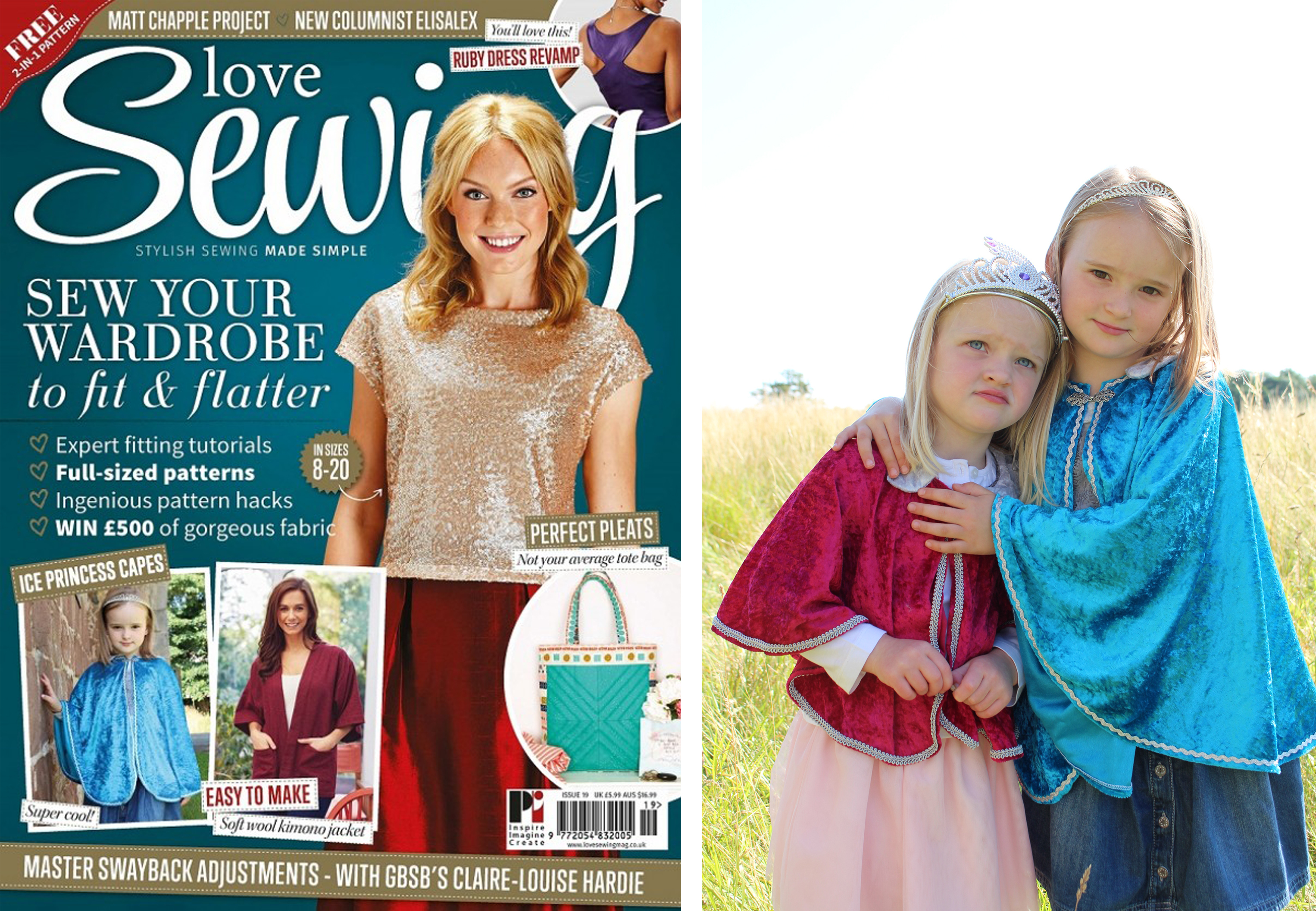 Royal Cape Featured in Love Sewing Issue 19