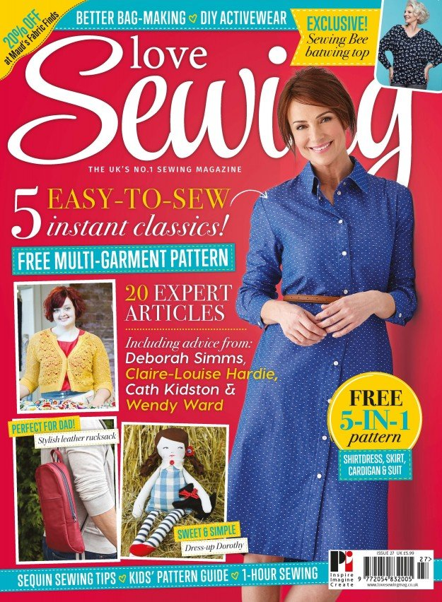 Love Sewing Issue 27 Front Cover