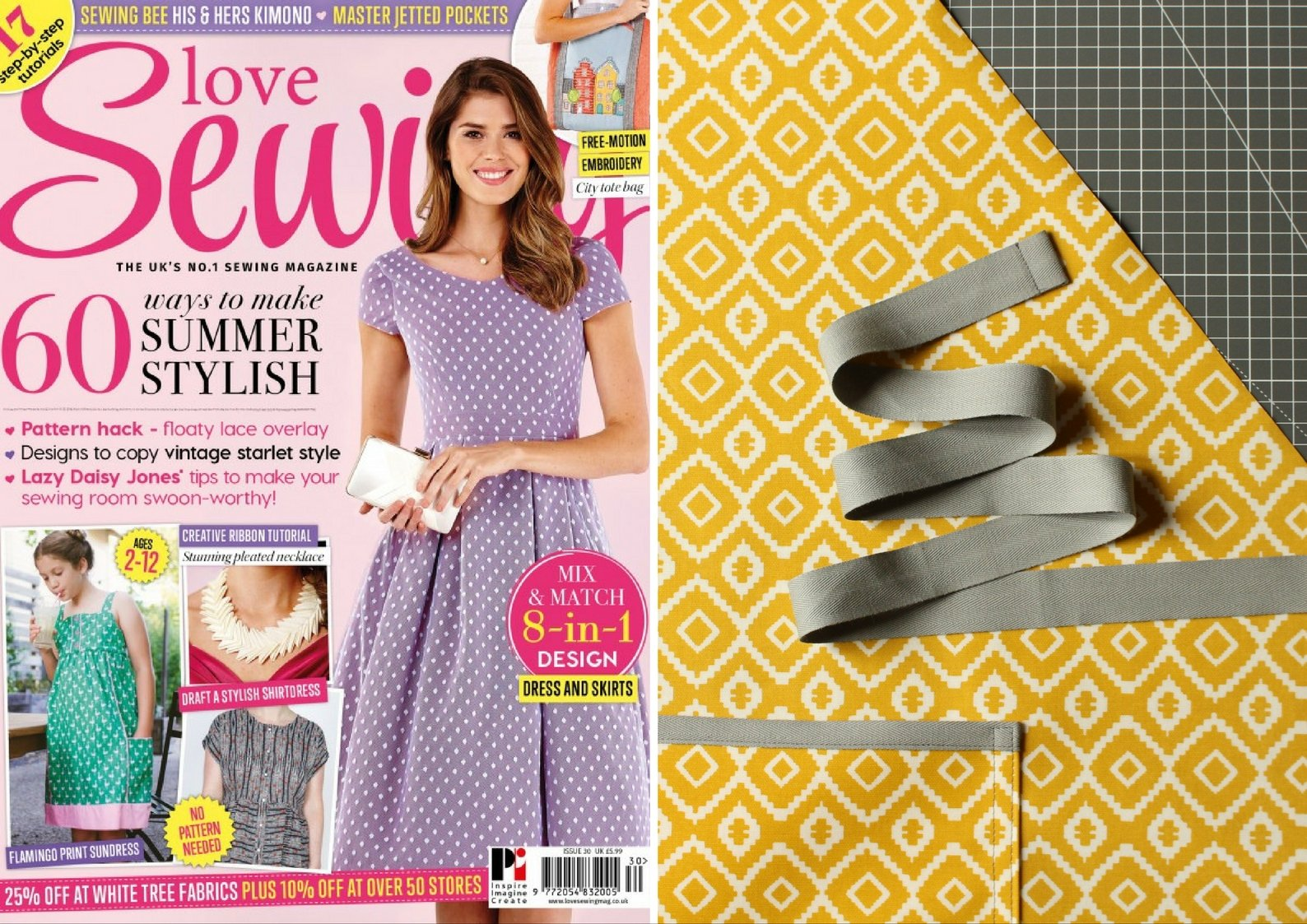 Oilcloth Apron featured in Love Sewing issue 30