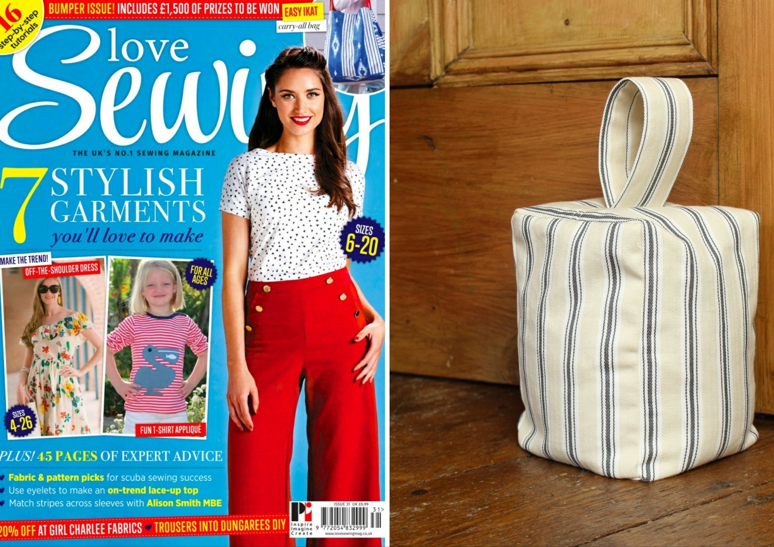 Doorstop featured in Love Sewing issue 31