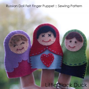 Matryoshka Finger Puppet Pattern for Sew Mama Sew