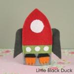 Rocket Finger Puppet Front