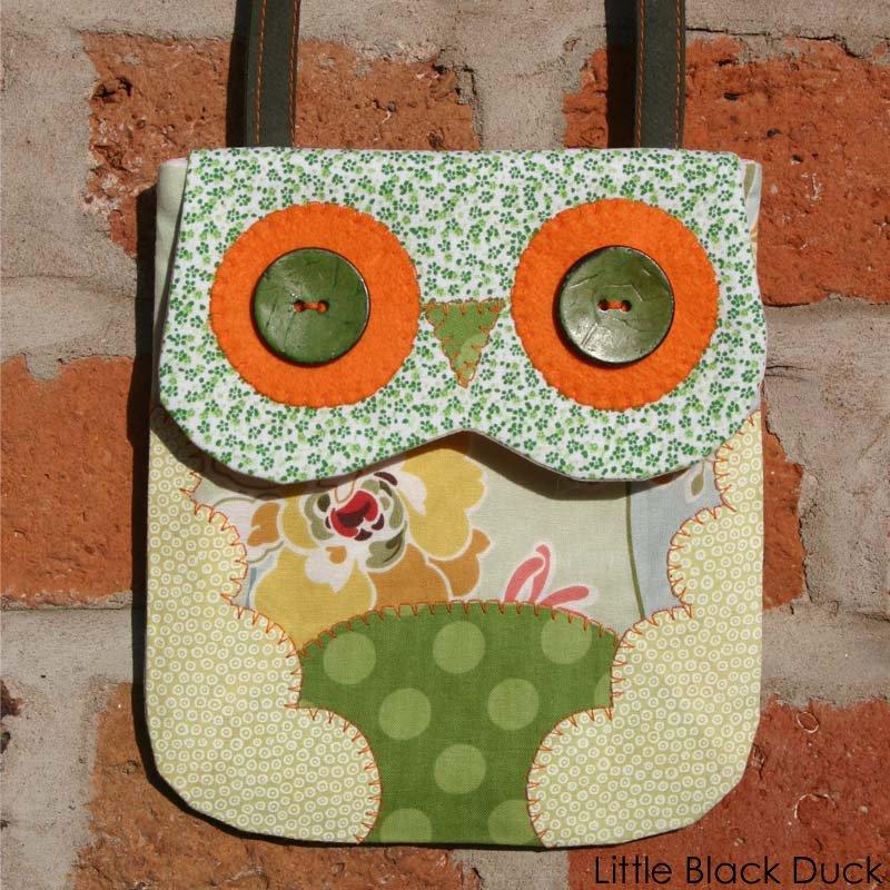 Green Owl Bag