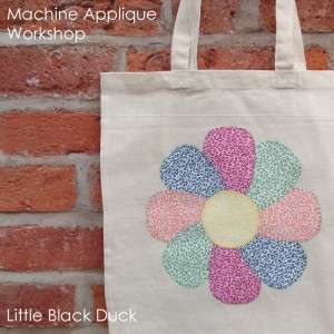 Machine Applique Workshop Flower Bag