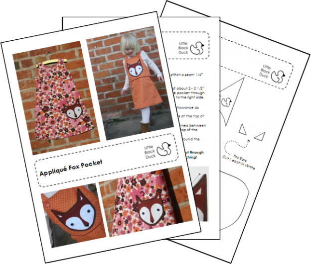 Example Pages from Fox Pocket Pattern