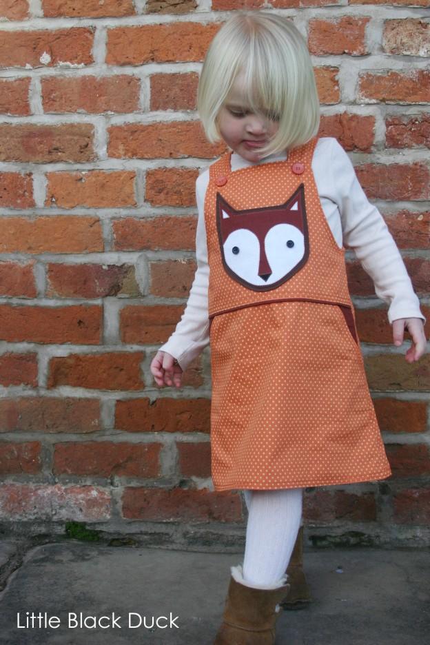 Fox Pocket on Orange Dress