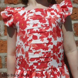 Hanami Dress Pleat Detail
