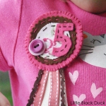 Pink and Brown Rosette
