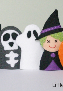 Halloween Friends Finger Puppets