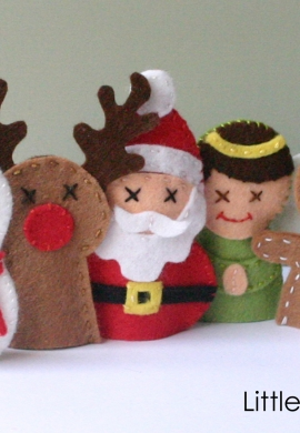 Christmas Friends Finger Puppets Sewing Kit