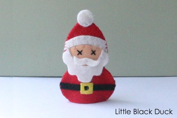 Santa Finger Puppet Sewing Pattern
