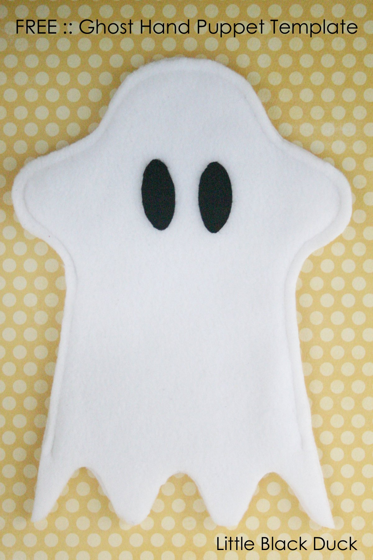 Ghost Hand Puppet FREE Sewing Pattern