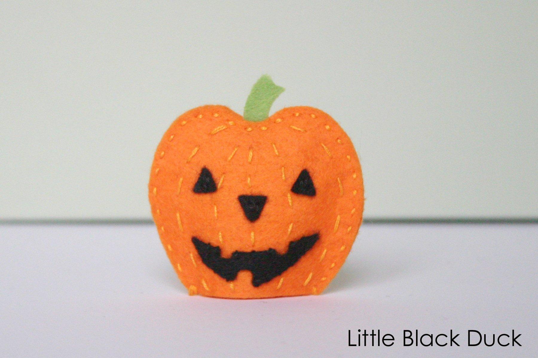 Pumpkin Finger Puppet Sewing Pattern