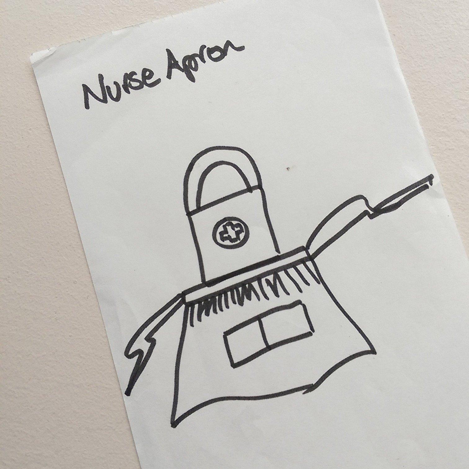 Nurse Apron initial sketch