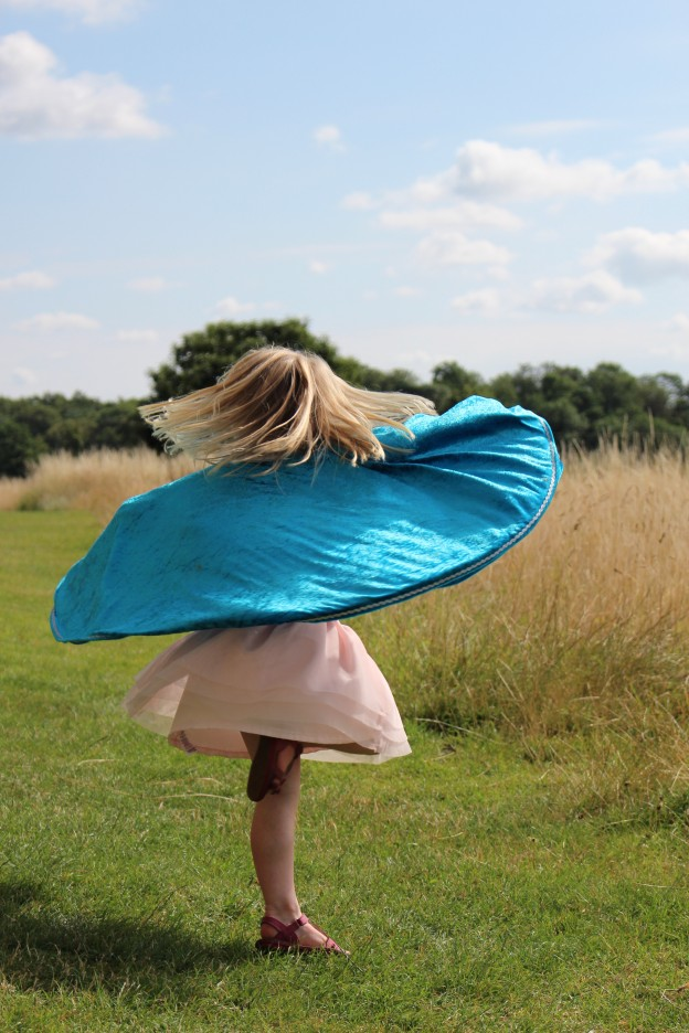 Twirling Royal Cape