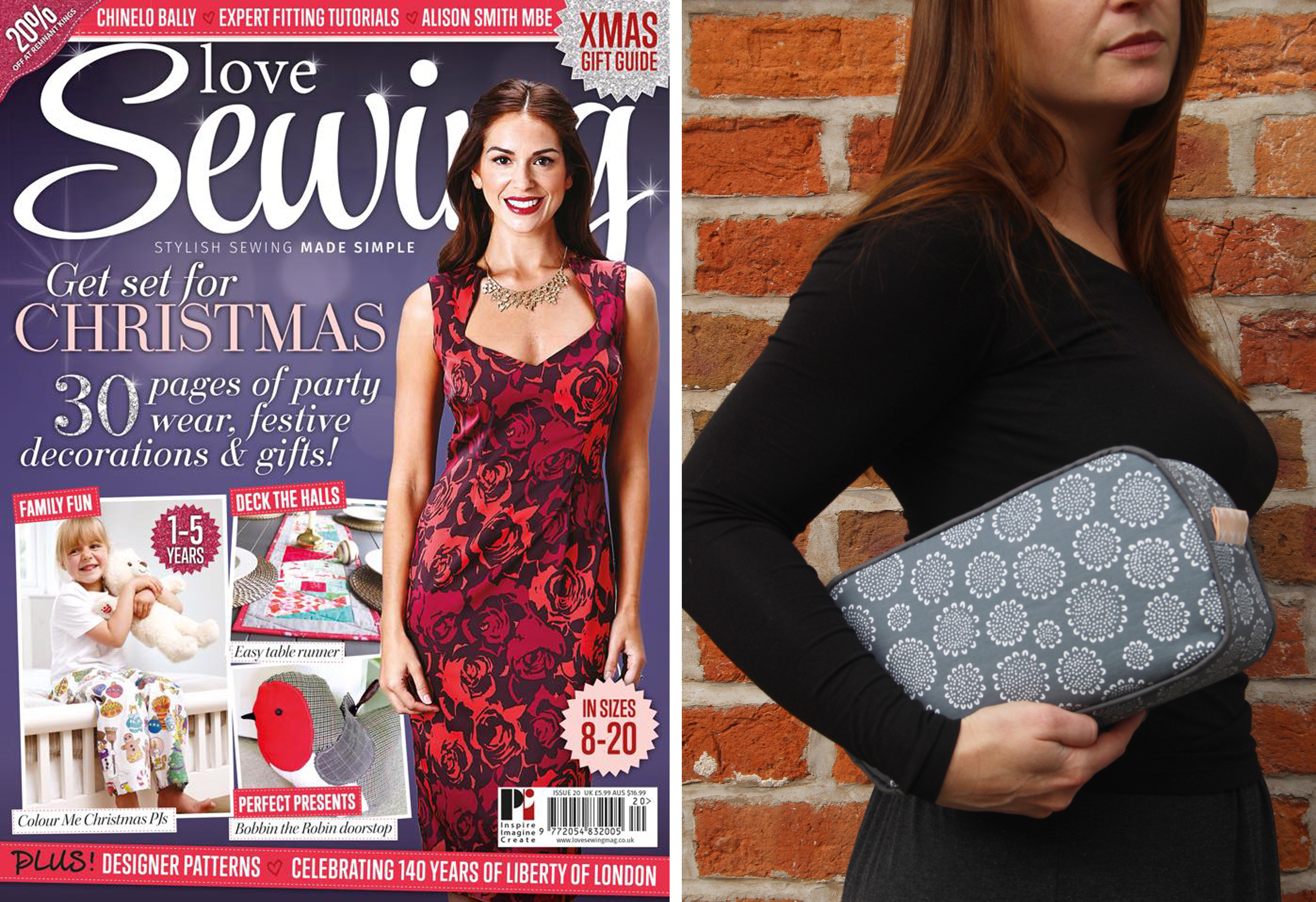 Oval wash bag featured in Love Sewing Issue 20