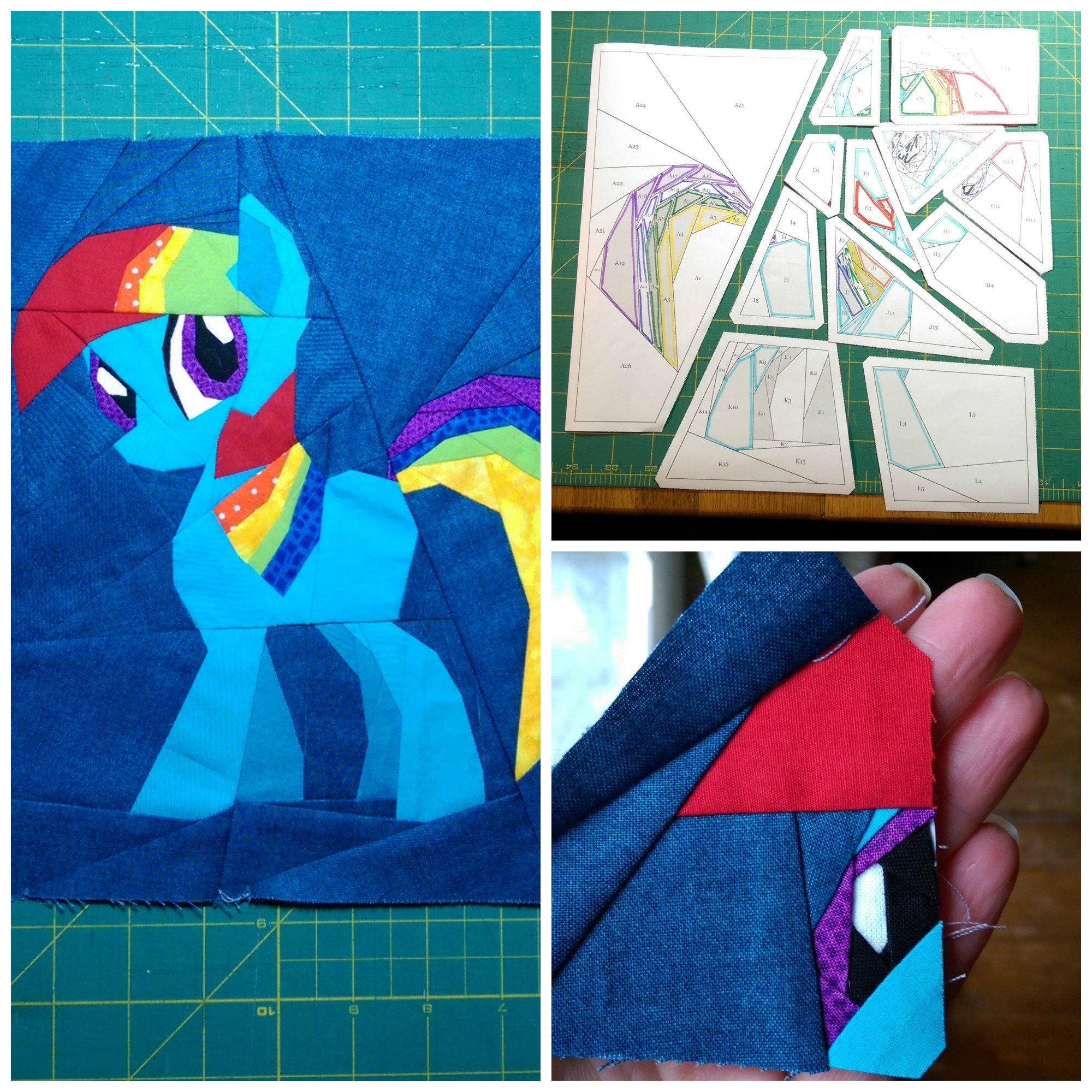 Rainbow Dash Collage