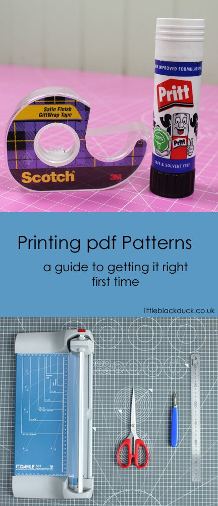 A guide to printing pdf Sewing Patterns