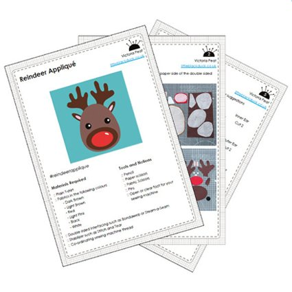 Reindeer Applique Sample Pattern Pages