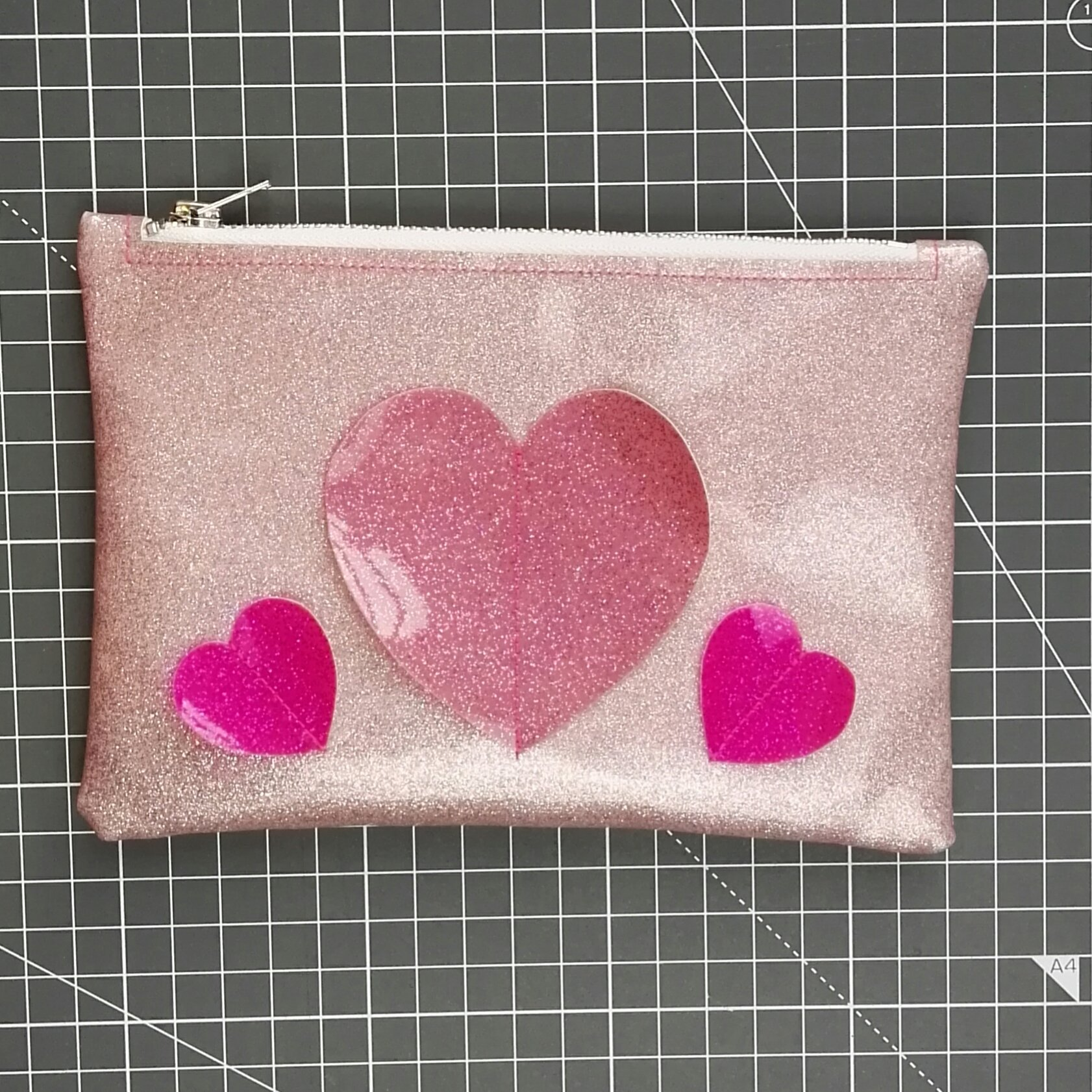 Heart Glitter Clutch for Love Sewing