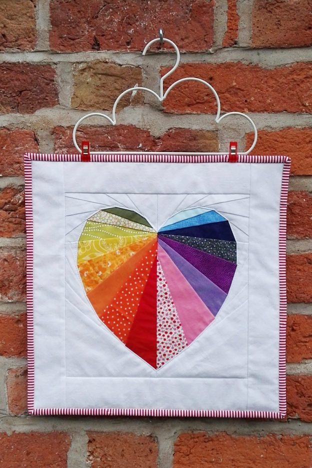 Facets of the Heart Mini Quilt