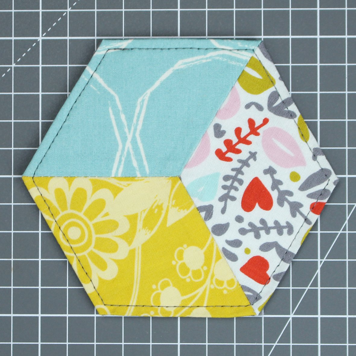 Pieced Fabric Coaster for Love Sewing issue 36
