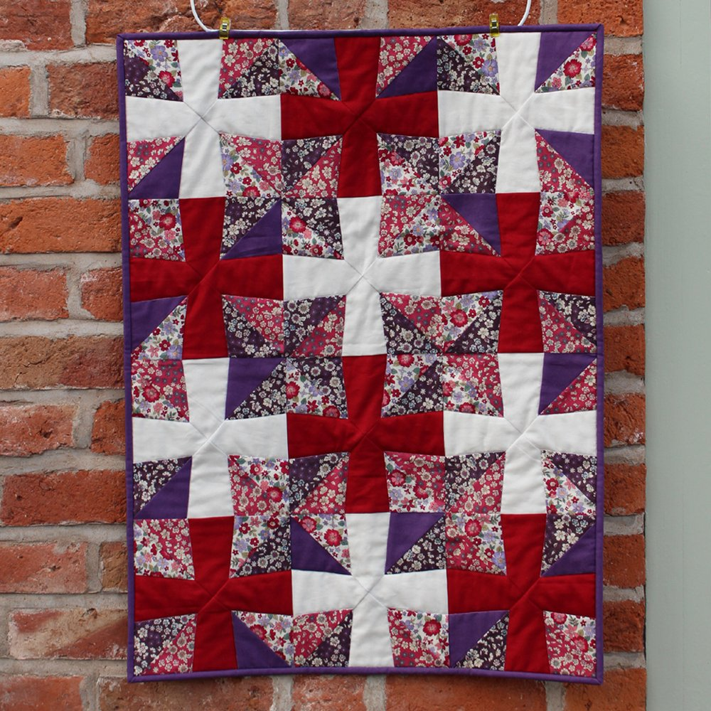 Frou Frou Quilt made and designed for the Sewing Quarter 5th April