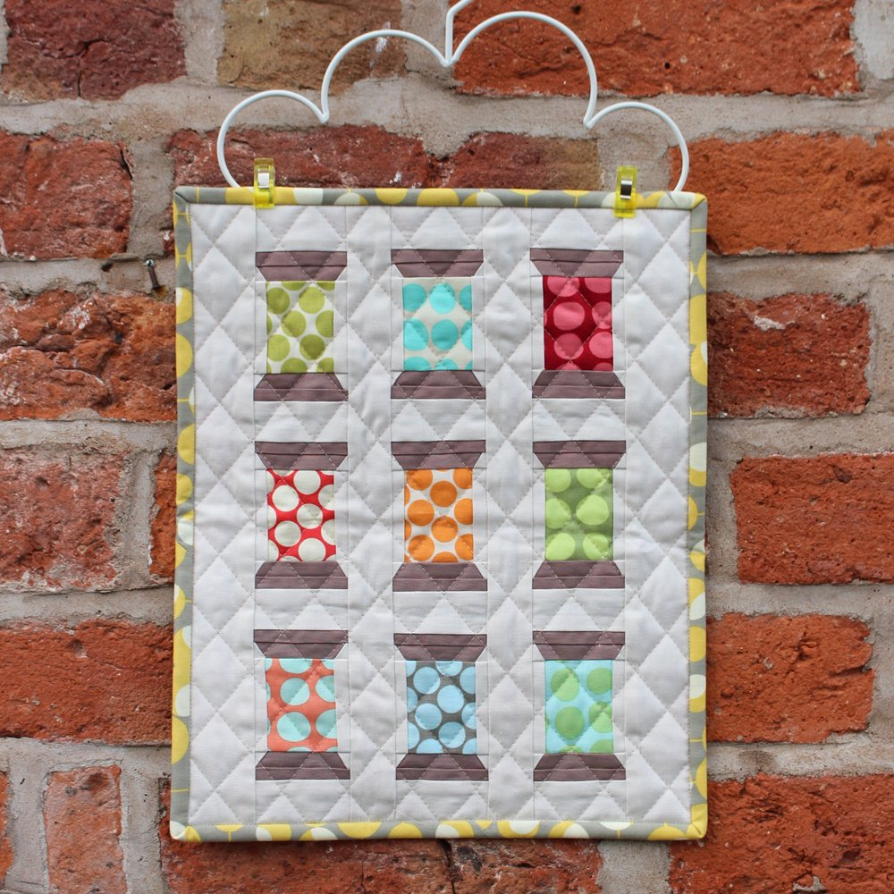 Spool Mini Quilt made for the Sewing Quarter April 5th 2017