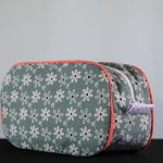 Grey Floral Pebble Wash Bag by Elizabeth Holt