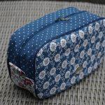 Blue Floral Pebble Wash Bag by Ilse Lemmens