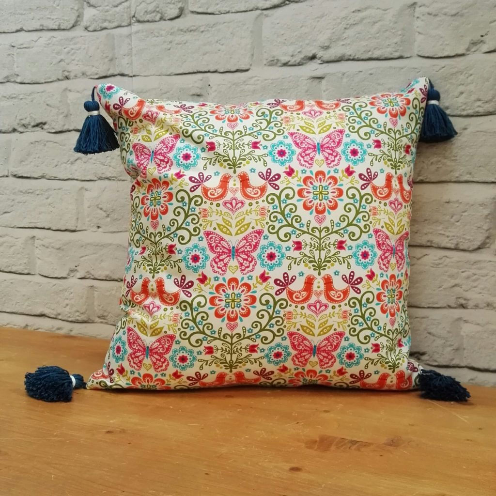 Tassel Cushion for the Sewing Quarter