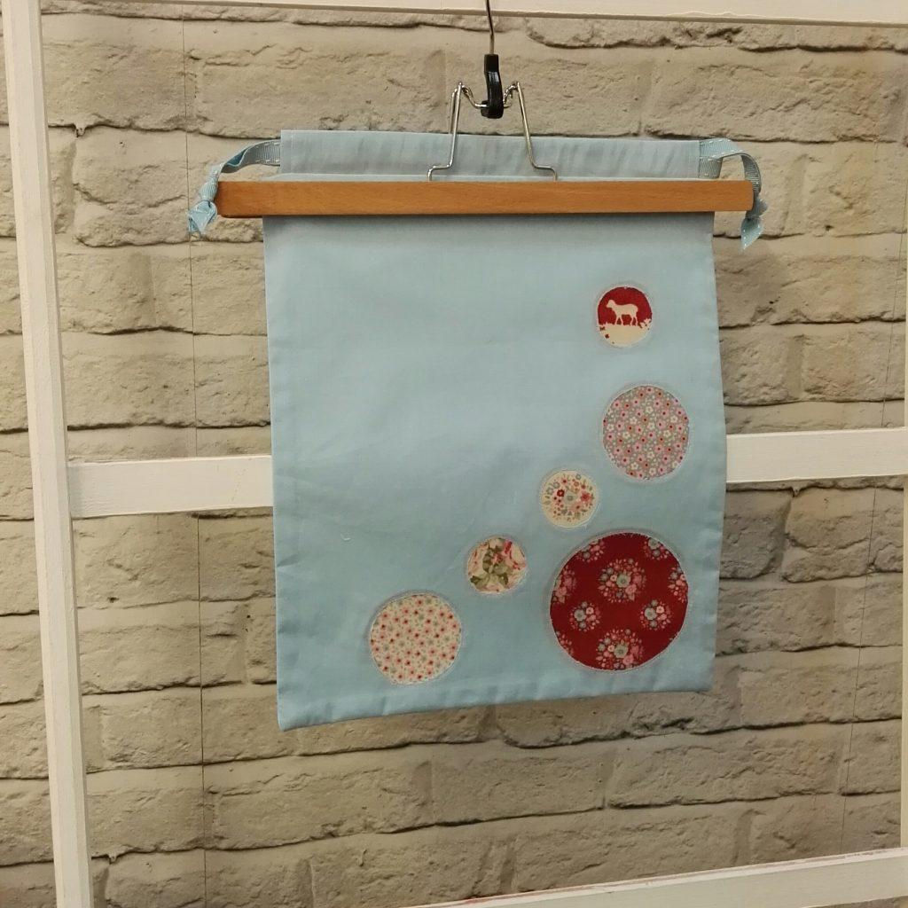 Reverse Applique Drawstring Bag for the Sewing Quarter