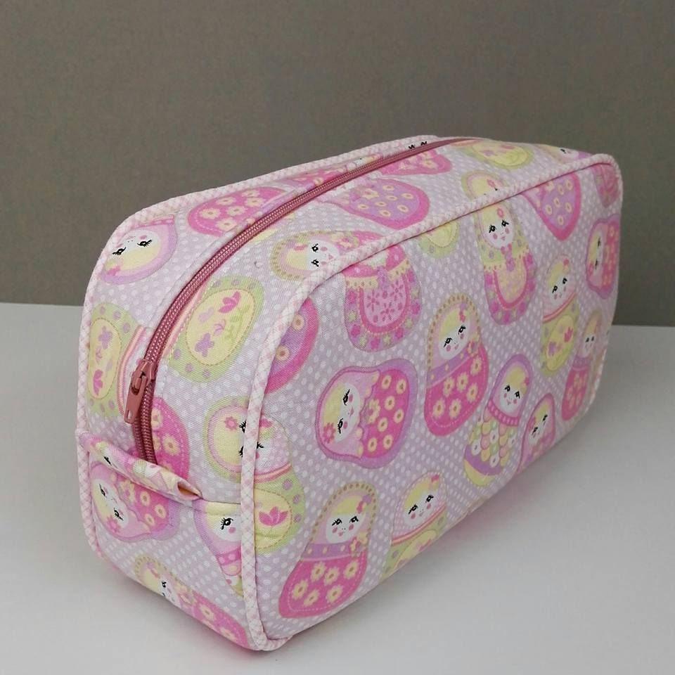 Pink Pebble Wash Bag by Victoria Peat