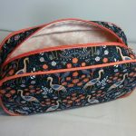 Heron Print Pebble Wash Bag Lining Detail by Susan Hewitt
