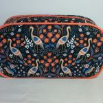 Heron Print Pebble Wash Bag by Susan Hewitt
