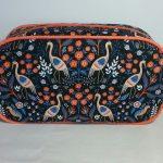 Heron Print Pebble Wash Bag by Susan Hewitt