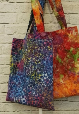 Batik Tote Bags for the Sewing Quarter
