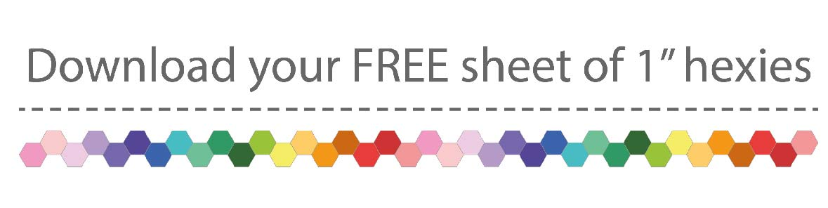 FEE sheet of 1inch hexies printable
