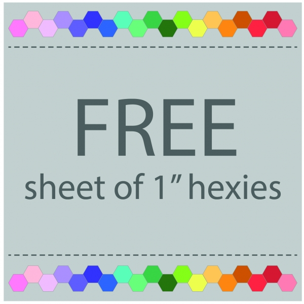 "Free sheet of 1"" hexies for English Paper Piecing"
