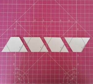 Cut row into individual hexies