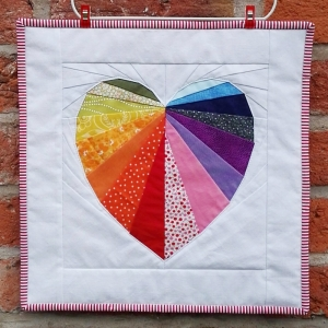 Facets of the Heart Foundation Paper Piecing Pattern