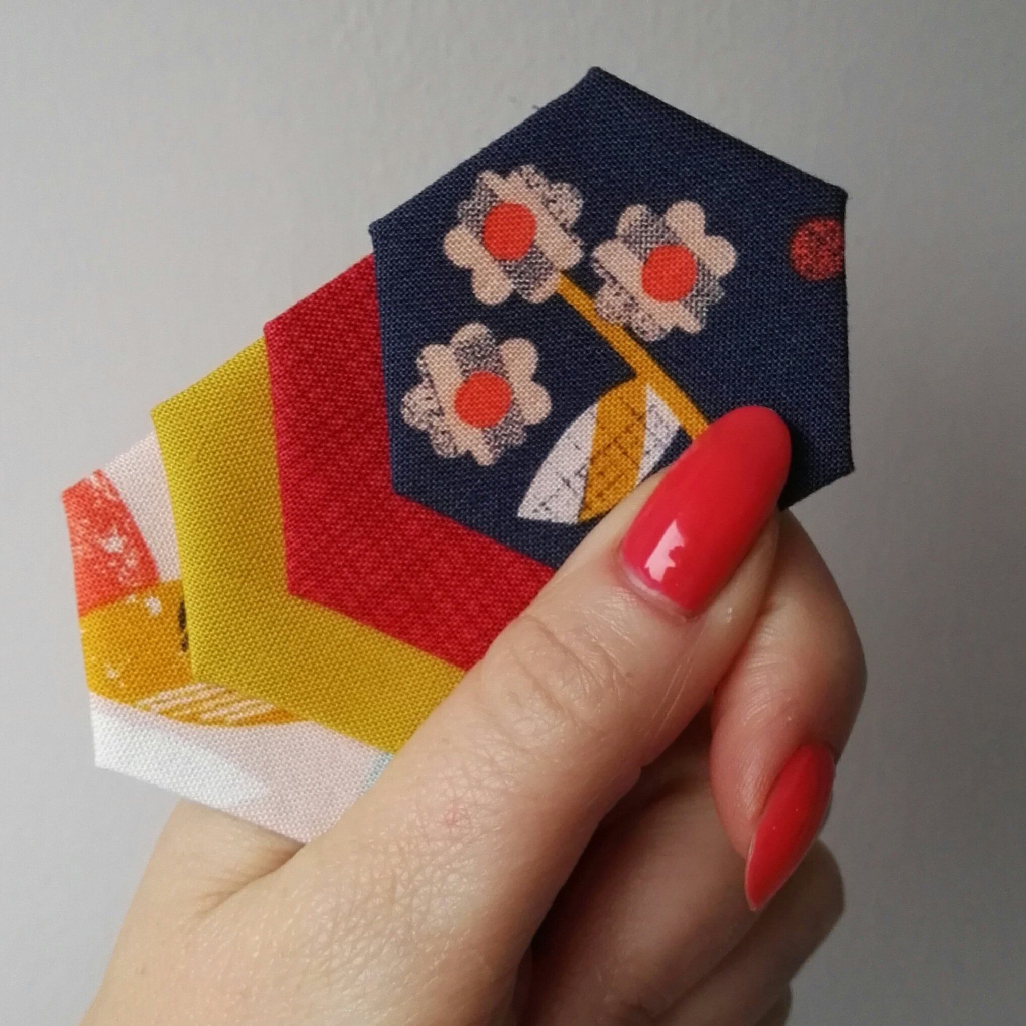 Sewing Quarter Hexies
