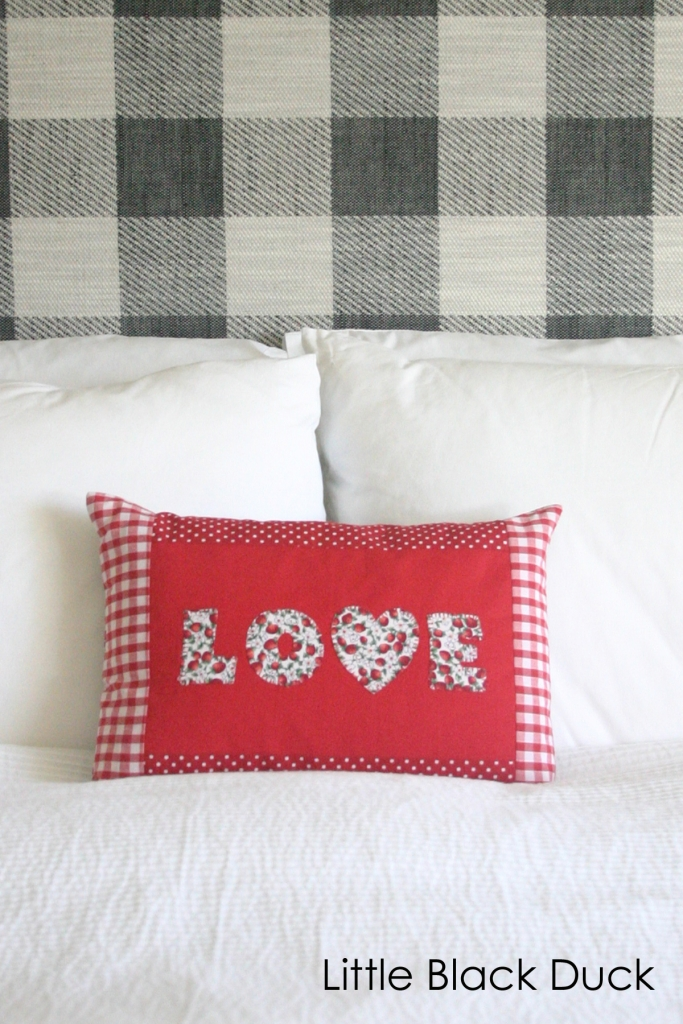 Red Love Applique Cushion