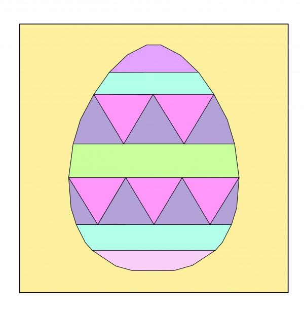 Fancy Easter Egg FPP pdf pattern