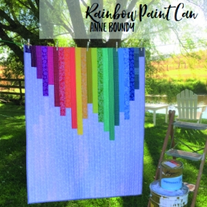 Rainbow Paint Can by Ann Boundy